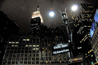 Streetlight Photograph - Empire State Building At Night by Ivo Kerssemakers