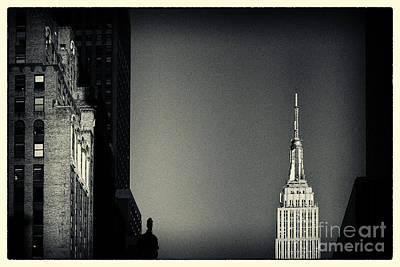 Filmnoir Photograph - Empire State Building 2 New York City by Sabine Jacobs