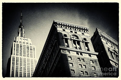Filmnoir Photograph - Empire State Building New York City by Sabine Jacobs