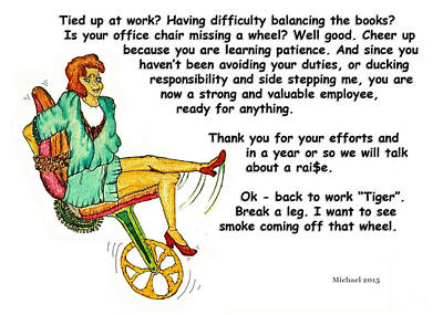 Employee Thank You Card Print by Michael Shone SR