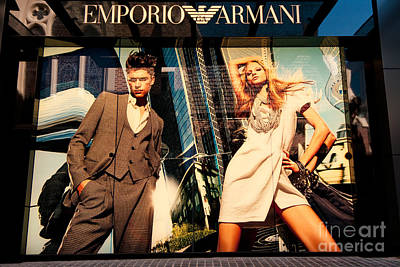Western Chic Photograph - Emporio Armani 01 by Rick Piper Photography
