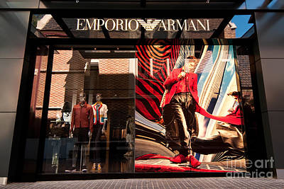 Western Chic Photograph - Emporio Armani 02 by Rick Piper Photography