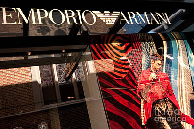 Western Chic Photograph - Emporio Armani 03 by Rick Piper Photography