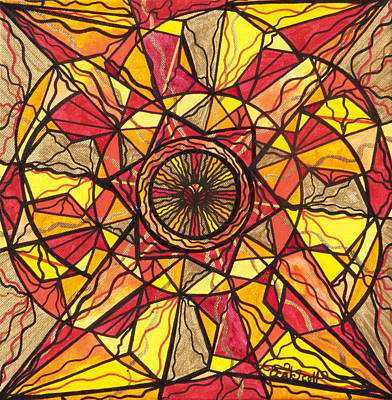 Geometric Painting - Empowerment by Teal Eye  Print Store