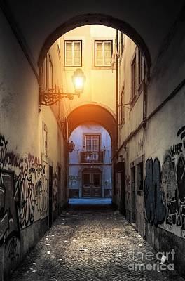 Empty Alley Print by Carlos Caetano
