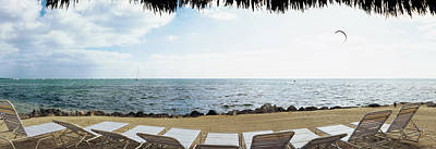 Empty Chairs Photograph - Empty Beach Chairs On The Beach, Key by Panoramic Images