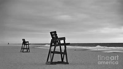 Empty Chairs Photograph - Empty Beach by Mark Miller