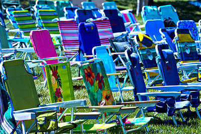 Empty Chairs Photograph - Empty Chairs by Garry Gay