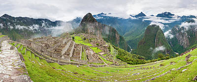 Empty Machu Picchu Complex Early Print by Panoramic Images
