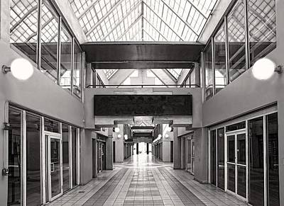 Empty Mall Print by Rudy Umans