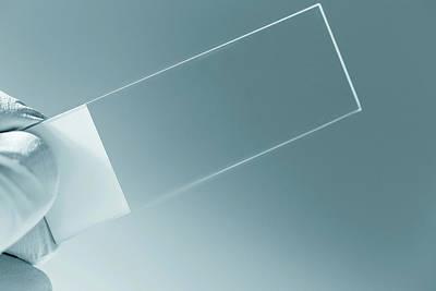 Empty Microscope Slide Print by Wladimir Bulgar