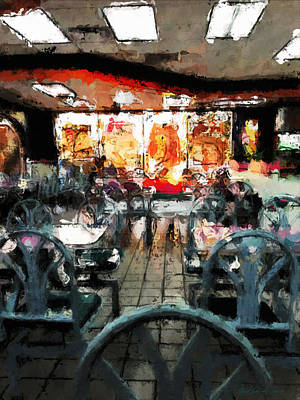 Empty Restaurant Print by Robert Smith