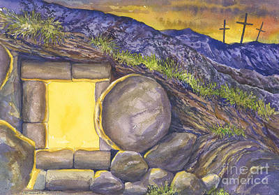 Faith Hope And Love Painting - Empty Tomb Or Life And Death by Mark Jennings