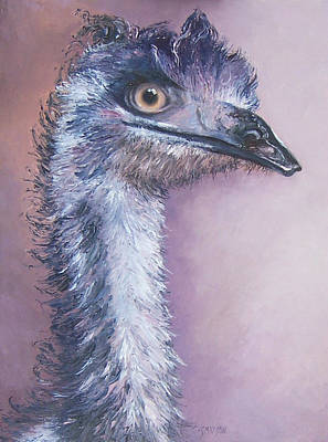 Emu Painting - Emu By Jan Matson by Jan Matson