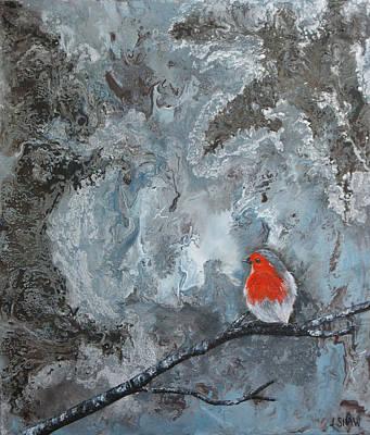 Modernart Painting - En Mis Pensamientos by Jacqueline Shaw