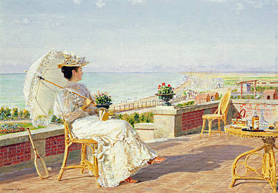 Vacances Painting - En Vacance by Marie Francois Firmin-Girard