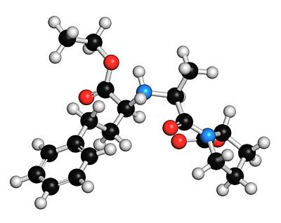 Chemical Photograph - Enalapril High Blood Pressure Drug by Molekuul