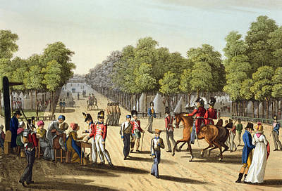 Redcoat Drawing - Encampment Of The British Army by Franz Joseph Manskirch