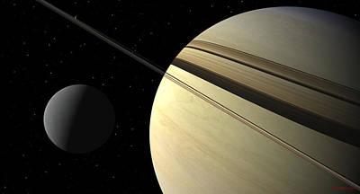 David Robinson Digital Art - Enceladus by David Robinson