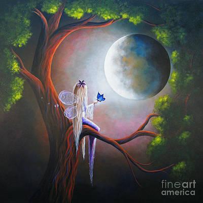 Faery Painting - Original Fairy Artwork By Shawna Erback by Shawna Erback