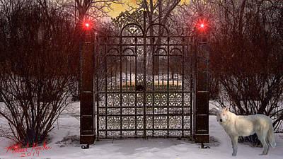 Haunted Mansion Digital Art - Enchanted Gates by Michael Rucker