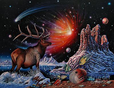 Comet Painting - Enchanted Monarch by Ricardo Chavez-Mendez