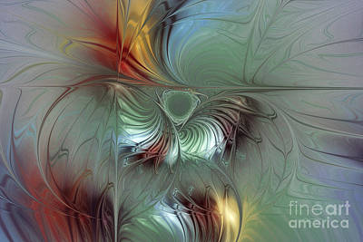 Floral Digital Art Digital Art Digital Art - Enchanting Flower Bloom-abstract Fractal Art by Karin Kuhlmann