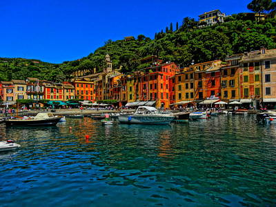 Poster Aart Photograph - Enchanting Portofino In Ligure Italy I by M Bleichner