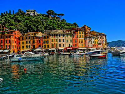 Poster Aart Photograph - Enchanting Portofino In Ligure Italy II by M Bleichner