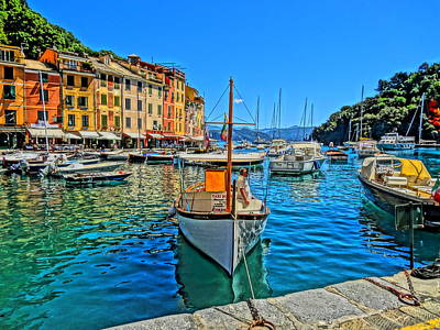 Poster Aart Photograph - Enchanting Portofino In Ligure Italy Iv by M Bleichner