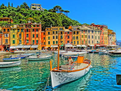 Poster Aart Photograph - Enchanting Portofino In Ligure Italy V by M Bleichner