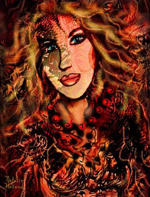 Nj Mixed Media - Enchanting Woman by Natalie Holland