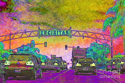 Old Town Digital Art - Encinitas California 5d24221p68 by Wingsdomain Art and Photography