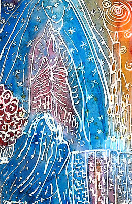Virgen De Guadalupe Painting - Encounter by  Tolere