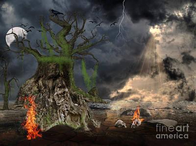Halloween Digital Art - End Of Dark Night by Image World