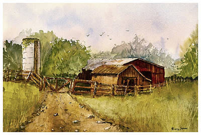 Trail Painting - End Of The Gravel Road by Barry Jones