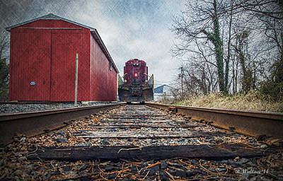 Shed Digital Art - End Of The Line by Brian Wallace