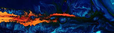 End Of The Road Horizontal Abstract Art By Kredart Print by Serg Wiaderny