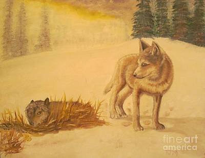 Wolves Painting - Endangered Wolves - Original Oil Painting by Anthony Morretta