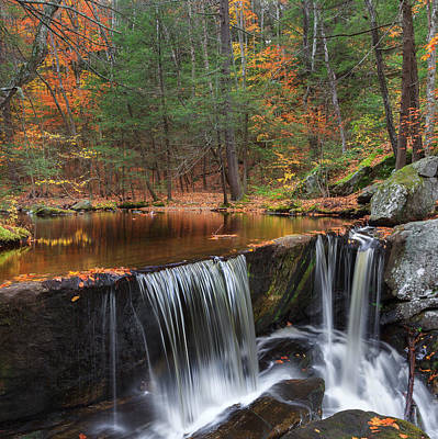 Square Photograph - Enders Falls Square by Bill Wakeley