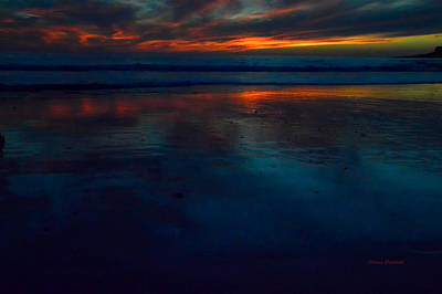 Ending Reflections Print by Donna Blackhall