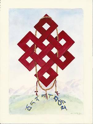 Tibetan Buddhism Painting - Endless Knot by Wicki Van De Veer