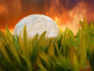 Golf Digital Art - Endless Pursuit by Lourry Legarde