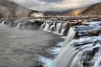 Landsacape Photograph - Endless Streams Over Sandstone Falls by Adam Jewell