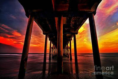 Endless Sunset Print by Peter Dang