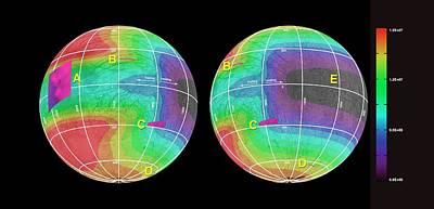 Energy Deposited On Europa Print by Nasa/jpl-caltech/univ. Of Ariz./jhuapl/univ. Of Colo.