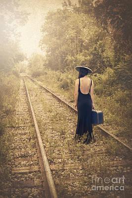 Train Photograph - Engaged With Destiny by Evelina Kremsdorf
