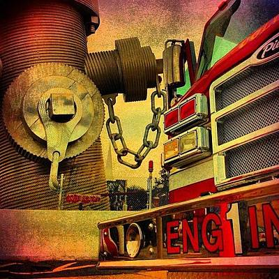 Photograph - Engine 1 by Benjamin Prater