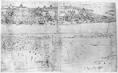 London Drawing - England London, C1543 by Granger