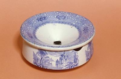 Nineteenth Century Photograph - English Ceramic Spittoon by Science Photo Library